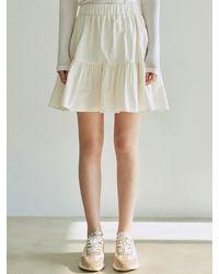 YAN13 Volumed Shirring Mini Skirt - Multicolour