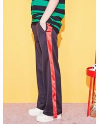 Blank - Tape Track Pants-rd - Lyst