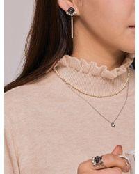 Matias - Crown Bar Earring _gray - Lyst