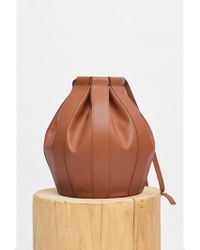Low Classic - Leather Drawstring Bag- Brown - Lyst