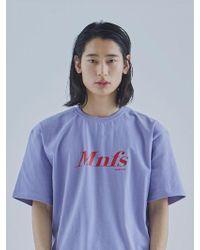 MIGNONNEUF Mnfs Big Logo T-shirt Sky Lavender