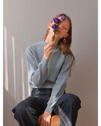 PLOT Balloon Minimal Shape Knit_sky Blue