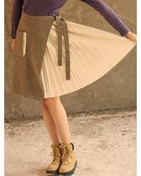 H.o.w.l. Gray Fake Layered Pleated Skirt