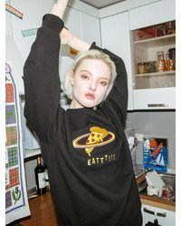 CLUT STUDIO [unisex] 0 1 Pizza Planet Sweatshirt - Black