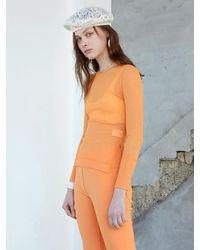 J.CHUNG Gley Sheer Top (sunset Orange)