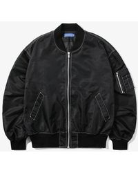 W Concept - Contrast St Over Ma-1 Jacket Black - Lyst