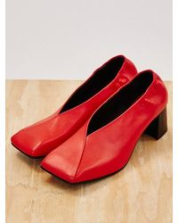Low Classic - Color Square Heel Red - Lyst