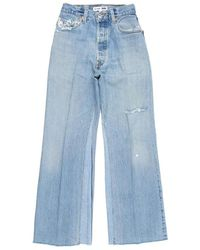 RE/DONE Levis Ultra High Rise Wide Leg Crop - Blue