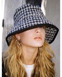 SLEEPYSLIP [unisex] Glencheck Navy Bucket Hat - Blue