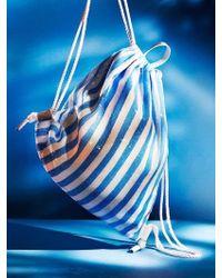 UNDER82 Shinning Drawstring Bag Blue