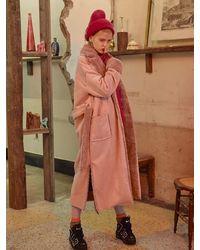 VVV Pink Faux Shearling Coat