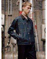 W Concept - [unisex] Inside Out Denim Jacket Awa154u Indigo - Lyst