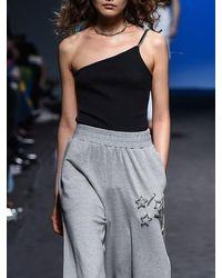 Fleamadonna Unbalance Jewellery Bodysuit - White