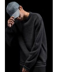 W Concept - Lambswool Heavy Knit_charcoal - Lyst