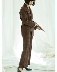 Clue de Clare - Unbalance Wide Pants-brown - Lyst