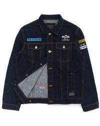 W Concept - Patch Denim Jacket Black - Lyst