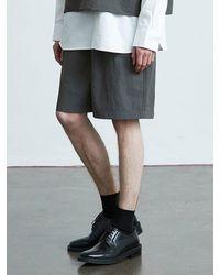VOIEBIT V014 Nylon Banding Short Pants Charcoal - Grey