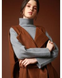 VRUMOUS Handmade Wool Vest Coat Brown