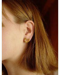FLOWOOM Wave Heart Earring - Metallic