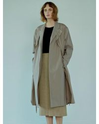 W Concept - Ct83007_double Layer Ct_tan Beige - Lyst