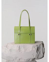Yuul Yie Jackie Shoulder Bag Lime Croc - Green