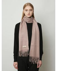 MADGOAT Cashmere Muffler Solid Indipink - Multicolor