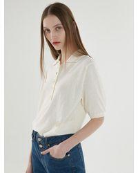 a.t.corner Volume Sleeve Collar Knit - Multicolour