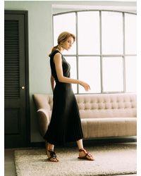 AYIHOLIC CASHMERE Sleeveless Knit Dress Black