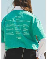 ANOUTFIT Overfit Pigment T-shirt Mint Green