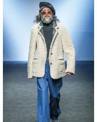 KIMMY J [unisex] Reversible Lamb Shearling Blazer Jacket - Natural