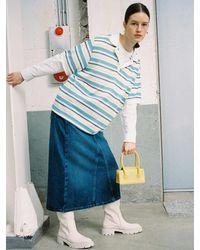 Marge Sherwood Grandma Mini Rolled Handle Bag - Blue