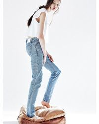 NOHANT - Straight Denim Pants For Women Light Blue - Lyst