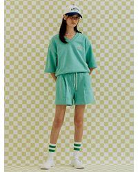 a.t.corner Melange Mint Short Trousers (light Green)