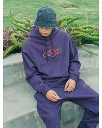 WKNDRS Quilted Hoodie Purple