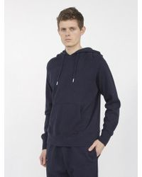 AECA WHITE - Terry Light Pullovers Hoodie Navy - Lyst