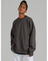COSTUME O'CLOCK Smcocl K Oversized Sweatshirt Dark Grey - Gray