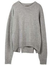 MADGOAT - Back Slit Cashmere Cropped Knit_grey - Lyst