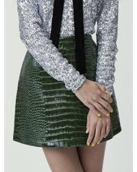 Fleamadonna Python Skin Mini Skirt - Red