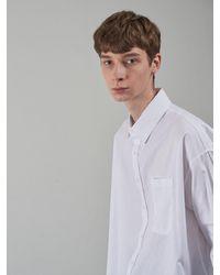 OWL91 Oversize Basic Shirts - White