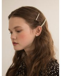 W Concept - Flower Pearl Hairpin - Lyst