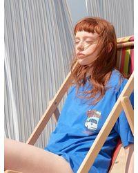 LIBERTENG [unisex] Beach Trailer T - Blue