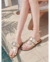 JUST JINNY Azure Sandals Jjna1gfs03 - Metallic