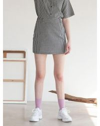 TARGETTO - Tgt Mini Skirt Tgt Gingham Check - Lyst