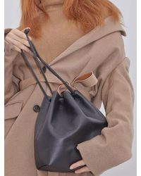 Awesome Needs - Cow Leather Bucket Bag_black - Lyst