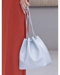 Awesome Needs - Cow Leather Bucket Bag_baby Blue - Lyst