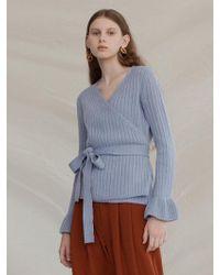 among - A V Wrap Knitwear - Lyst