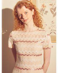 Salon de Yohn Romantic Spangle Midi Dress - White