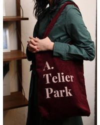 Atelier Park - Easy Cotton Bag - Burgundy - Lyst