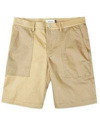 W Concept - Stretch Color Block Shorts Beige - Lyst
