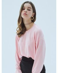 MIGNONNEUF - Crush Frill Long Sleeve T Pink - Lyst